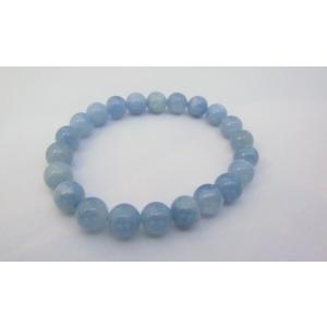 3月誕生石 アクアマリン(藍柱石)8.5ミリブレスレット1|kaicrystal