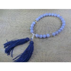 ブルーレースアゲート数珠|kaicrystal