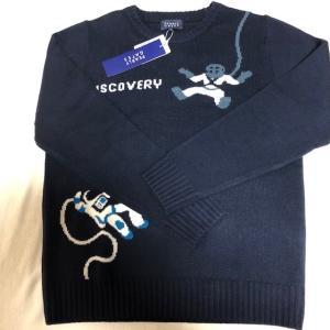 パーリーゲイツ ネイビー 柄物セーター サイズ5(Lサイズ 新品未使用品)|kaida-club
