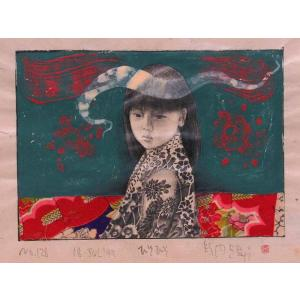 【GINZA絵画館】智内兄助 さしえの原画「蔵:ひそひそ」宮尾登美子作・毎日新聞連載小説・第128回・1点もの kaigakan-shopping 02