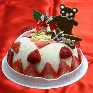 クリスマスケーキ 苺のミルフィーユドームアイスケーキ 【クリスマス限定商品】