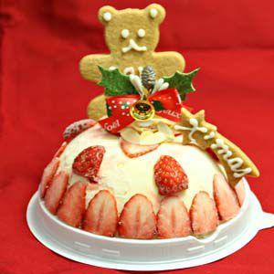 クリスマスケーキ 苺のミルフィーユ4号ドーム型アイスケーキ