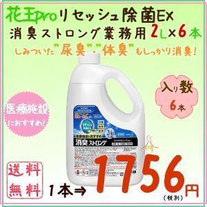 リセッシュ除菌EX消臭ストロング 業務用 2L×6本/ケース【業務用消臭剤】 kaigo-eif