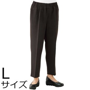 婦人ストレッチCラインパンツ Lサイズ 2枚セット ミセス・シニア 39493 背中をカバー|kaigo-scrio