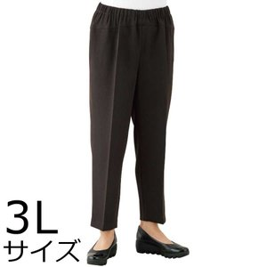 婦人ストレッチCラインパンツ 3Lサイズ 2枚セット ミセス・シニア 39493 背中をカバー おおきいサイズ|kaigo-scrio