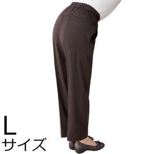 婦人裏起毛Cラインパンツ Lサイズ 2枚セット ミセス・シニア 39950 背中をカバー 秋冬|kaigo-scrio
