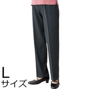 婦人ストレッチCラインファスナーパンツ Lサイズ 2枚セット 39806 背中をカバー|kaigo-scrio