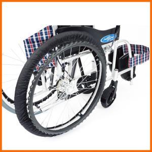 車椅子タイヤRAKUカバー SR-120B 前輪・後輪セット|kaigo-scrio