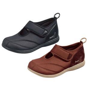 軽量 介護靴 パステル401 21〜28cm ブラック・ブラウン|kaigo-scrio