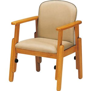座面の高さが調節できる肘掛け椅子 座・コンピス高さ調節椅子(キャスターなし)|kaigo-scrio