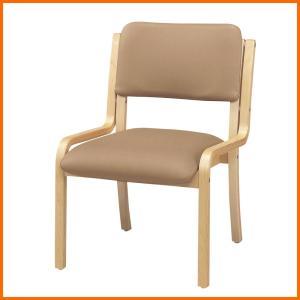 福祉施設向け 木製肘なしチェア ナチュラル色 OL-430P 居室・ダイニングチェア|kaigo-scrio