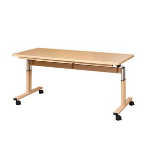 福祉施設用昇降式テーブルTRシリーズ角型160×90 TR-1690|kaigo-scrio