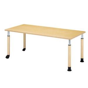 病院・介護施設・福祉施設 施設用テーブル ラチェットタイプ4R 角型 片側キャスター 4R-1890K-C|kaigo-scrio
