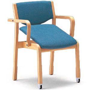 立ち上がり補助 かたらい CRH-41C-MU 半肘座はねあげ 施設向け椅子 居室・ダイニングチェア kaigo-scrio