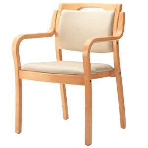 アロエW スタッキング可 座着脱仕様 施設向け椅子 居室・ダイニングチェア|kaigo-scrio