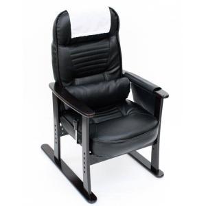 レバー操作で無段階にリクライニング 肘付き高座椅子|kaigo-scrio