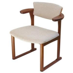 腰にやさしいイス Awaza(アワザ)LD 腰痛予防中座椅子 051W-F ウォールナット材 布張3|kaigo-scrio