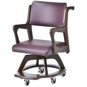 室内用車椅子 WC-S302-BR 座面回転椅子・室内の移動に|kaigo-scrio