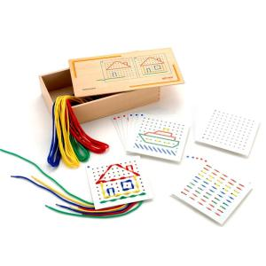 ひも通しとデザイン集セット 視知技能強化訓練|kaigo-scrio