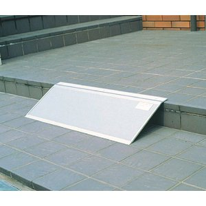 アルミ安心スロープ・渡し板 フリーサイズ 適応段差高さ:約3〜10cm|kaigo-scrio