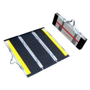 携帯用スロープ・渡し板 デクパック パーソナル コンパクトタイプ 適応段差高さ:約6〜17cm|kaigo-scrio