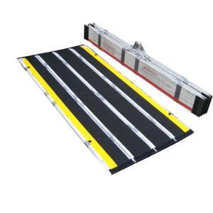 携帯用スロープ・渡し板 デクパック シニア300cm 適応段差高さ:約26〜75cm|kaigo-scrio
