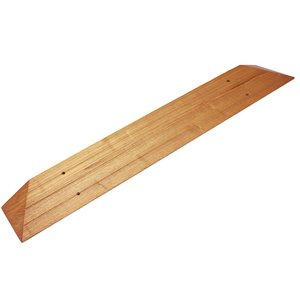 天然木 屋内段差解消スロープZW-509L350 幅11×高さ3.5×長さ120cm 敷居段差 渡し板|kaigo-scrio