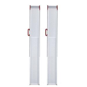 ESKスライドスロープ2mRタイプ ESK200R 2本1組 屋外用携帯スロープ 適応段差高さ:約5〜50cm|kaigo-scrio