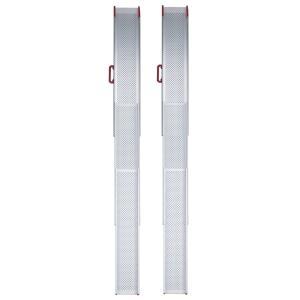 ESKスライドスロープ3mRタイプ ESK300R 2本1組 屋外用携帯スロープ 適応段差高さ:約5〜80cm|kaigo-scrio