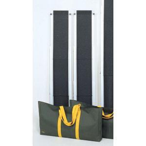ワイド・スライドスロープ1.5m ESW 2本1組 屋外用携帯スロープ 適応段差高さ:約12〜37cm|kaigo-scrio