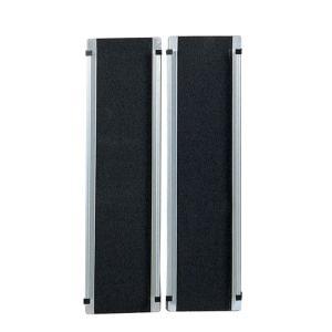 ワイド・アルミスロープ90cm EW90 2本1組 屋外用段差解消スロープ適応段差高さ:約6〜20cm|kaigo-scrio