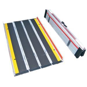 折りたたみ式超軽量携帯用スロープ デクパックE.B.Lエッジ付き165cm 適応段差高さ:約15〜41cm|kaigo-scrio