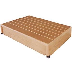 玄関台 踏み台 木製玄関台 微笑の蘭 60W-40|kaigo-scrio