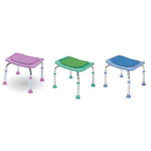 シャワーチェアコンパクトミニ クッション付 背もたれなしタイプ シャワーベンチ シャワー椅子|kaigo-scrio