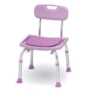 シャワーチェアコンパクトミニ クッション付 背もたれ付タイプ シャワーベンチ シャワー椅子|kaigo-scrio