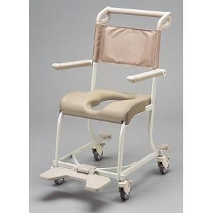 シャワーキャリー お風呂・入浴用車椅子 TOTO 水まわり用四輪キャスター車いす(ソフトシート)EWCS604AS|kaigo-scrio
