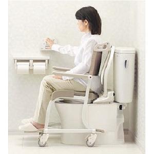 シャワーキャリー お風呂・入浴用車椅子 TOTO 水まわり用四輪キャスター車いす(ソフトシート)EWCS604AS|kaigo-scrio|04