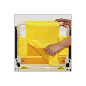 シャワーキャリー お風呂・入浴用車椅子 簡易シャワー車いす低床タイプ4輪キャスター KSC-1 穴あきシート kaigo-scrio 05
