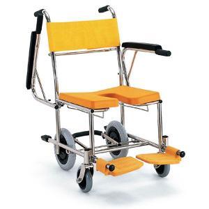 シャワーキャリー お風呂・入浴用車椅子 入浴・シャワー用車いすKS4 穴あきシート|kaigo-scrio
