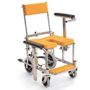 シャワーキャリー お風呂・入浴用車椅子 シャワー車いす 背もたれ前後式 KS3 穴なしシート kaigo-scrio