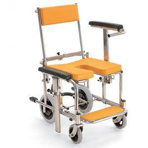 シャワーキャリー お風呂・入浴用車椅子 シャワー車いす 背もたれ前後式 KS3 穴なしシート kaigo-scrio 02