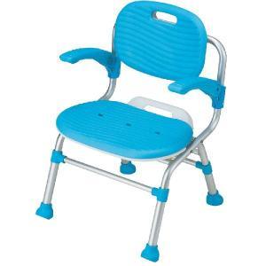 折りたたみシャワーチェアー テイコブSC01 肘掛け背もたれ付 シャワーベンチ シャワー椅子|kaigo-scrio