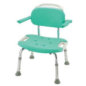 シャワーチェア やわらか座面 やわらかシャワーチェア 肘掛け背もたれ付ワイド|kaigo-scrio
