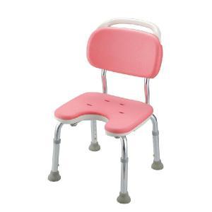 シャワーチェア やわらか座面 やわらかシャワーチェア U型 背もたれ付コンパクト|kaigo-scrio