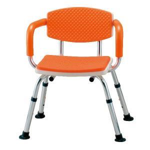 背もたれとひじ掛付きの安心構造 シャワーベンチすま〜いる 肘掛け背もたれ付き家庭用タイプ シャワーチェア シャワー椅子|kaigo-scrio