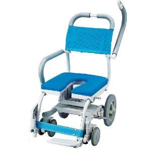シャワーキャリー お風呂・入浴用車椅子 ウチエくるくるチェアD U型シート KRU-174|kaigo-scrio