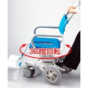 シャワーキャリー お風呂・入浴用車椅子 ウチエくるくるチェアD U型シート KRU-174|kaigo-scrio|03