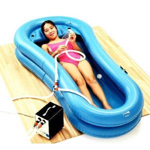 介護簡易浴槽 コーシン快護おふろセット1給湯・排湯ポンプ空気入れセット kaigo-scrio
