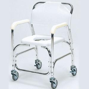シャワーキャリー お風呂・入浴用車椅子 アルミシャワーチェア スチール製後輪ダブルストッパー TY535E|kaigo-scrio