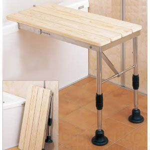 桧(ヒノキ)の香りが心地よい入浴台 ひのき入浴台 折りたたみ式|kaigo-scrio